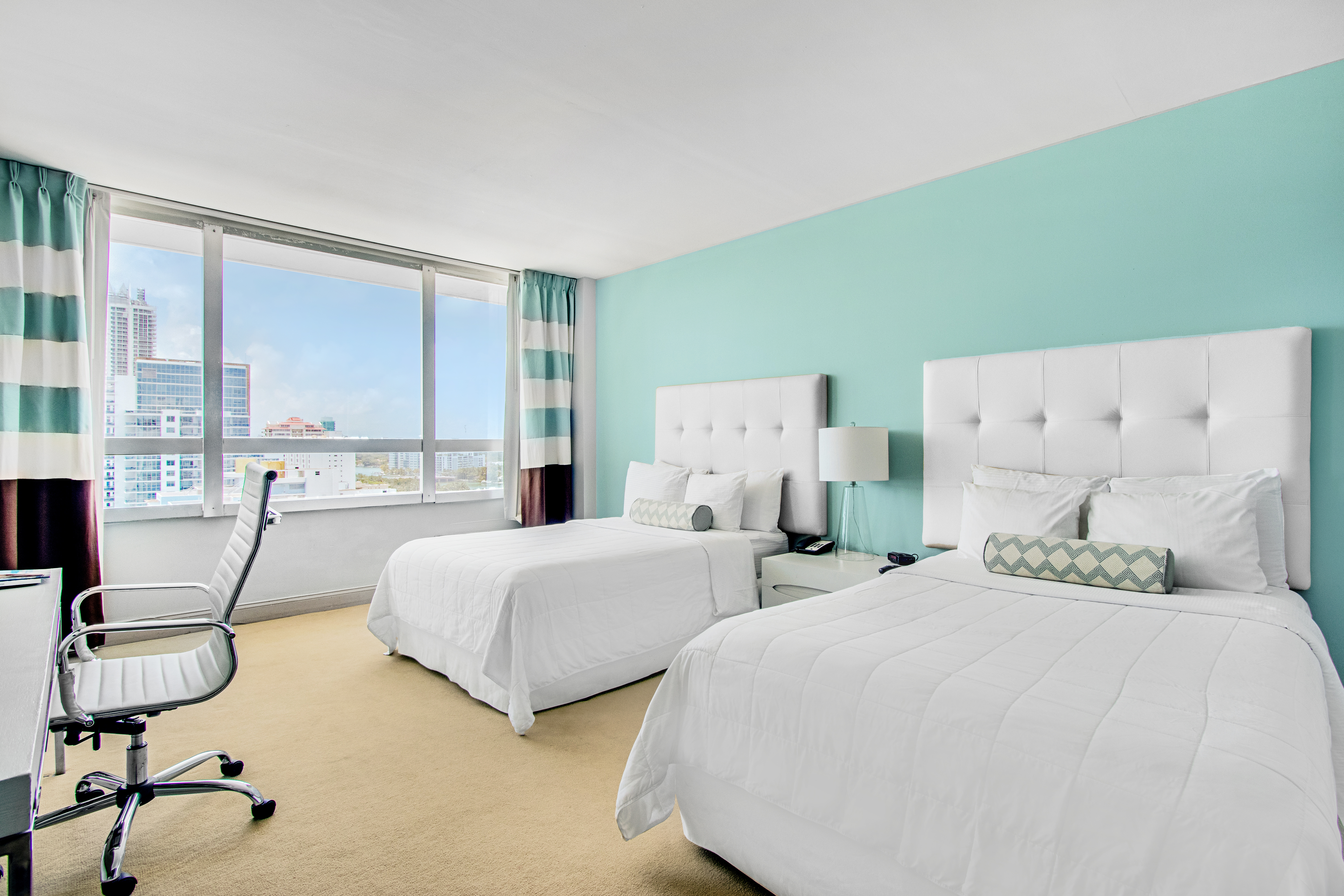 Executive city view 2 Double Beds Room type of the Deauville Beach Resort