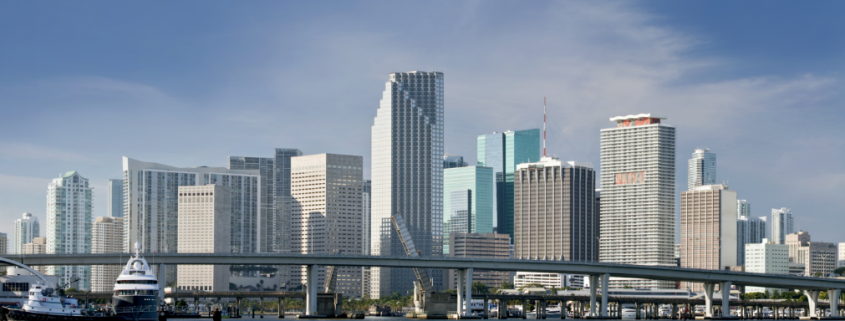 View of the Downtown of Miami