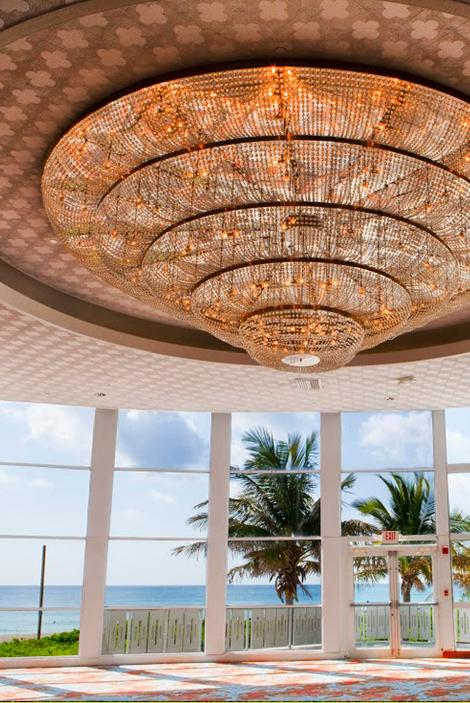 Chandelier at the Deauville Beach Resort
