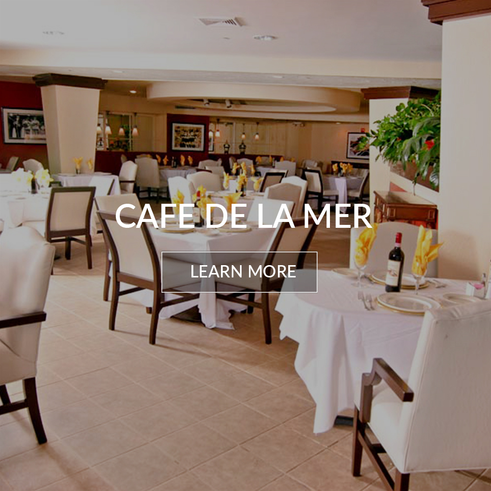 Cafe de la mer, breakfast restaurant at the Deauville Beach Resort