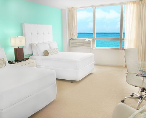 Standard ocean view bedroom