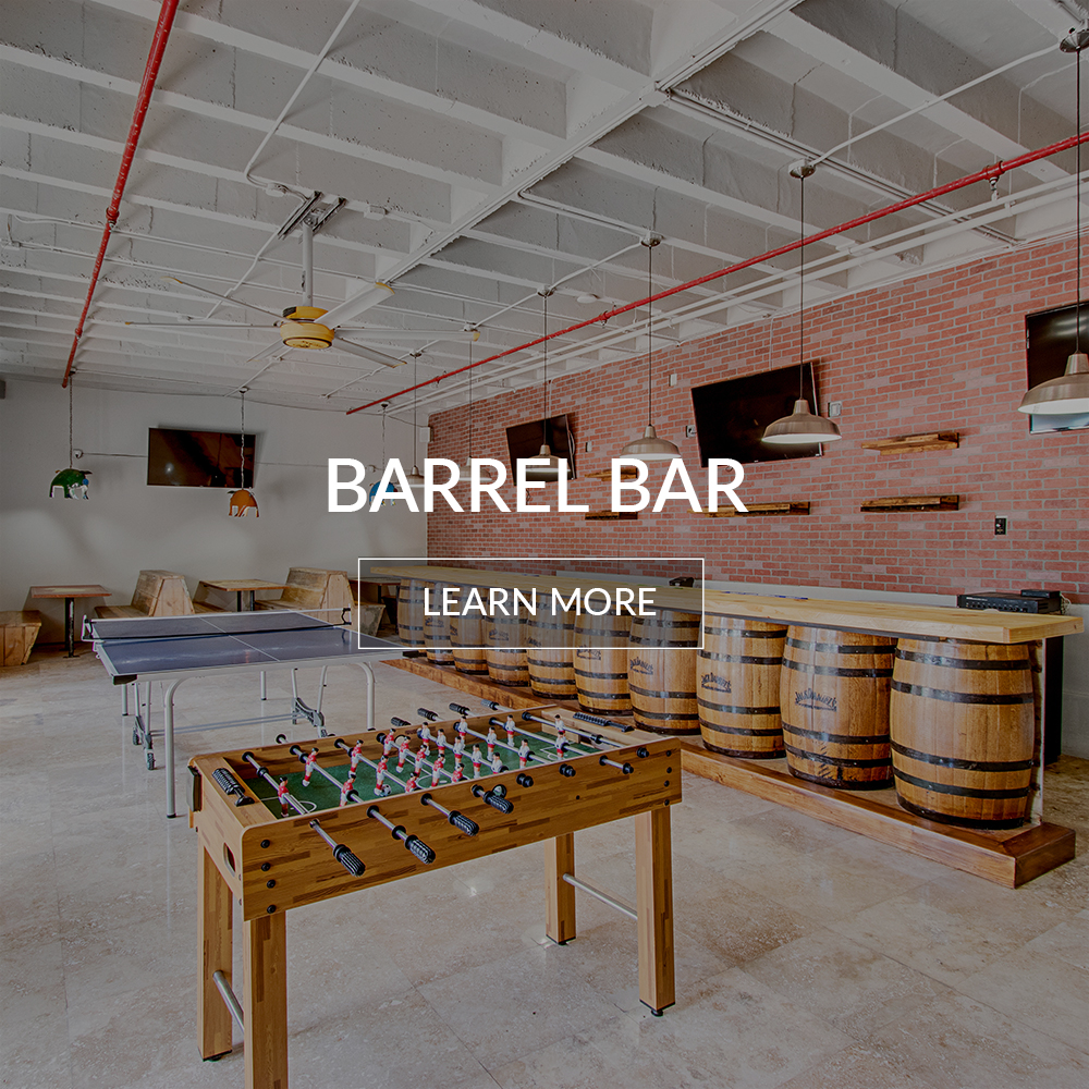 Interior of the barrel bar inside the Deauville Beach Resort in Miami Beach