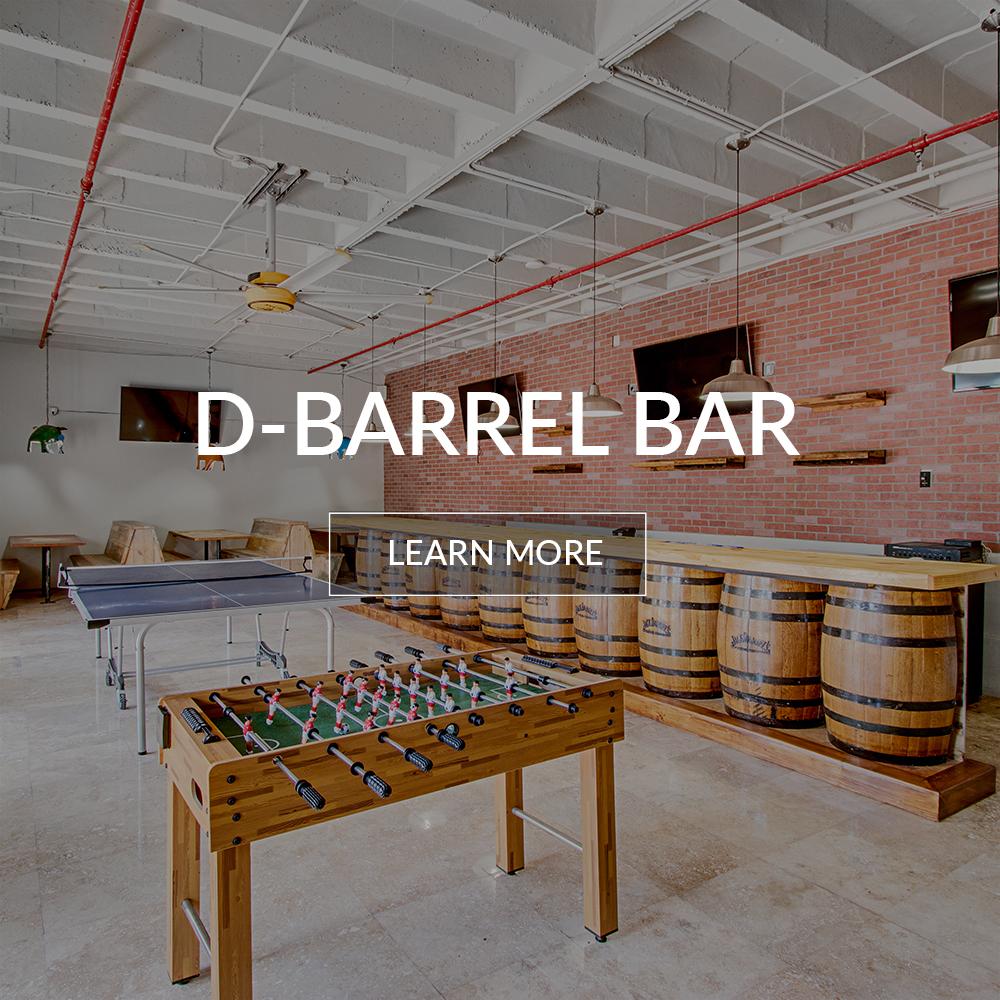 Inside of D - Barrel Bar at the Deauville Beach Resort