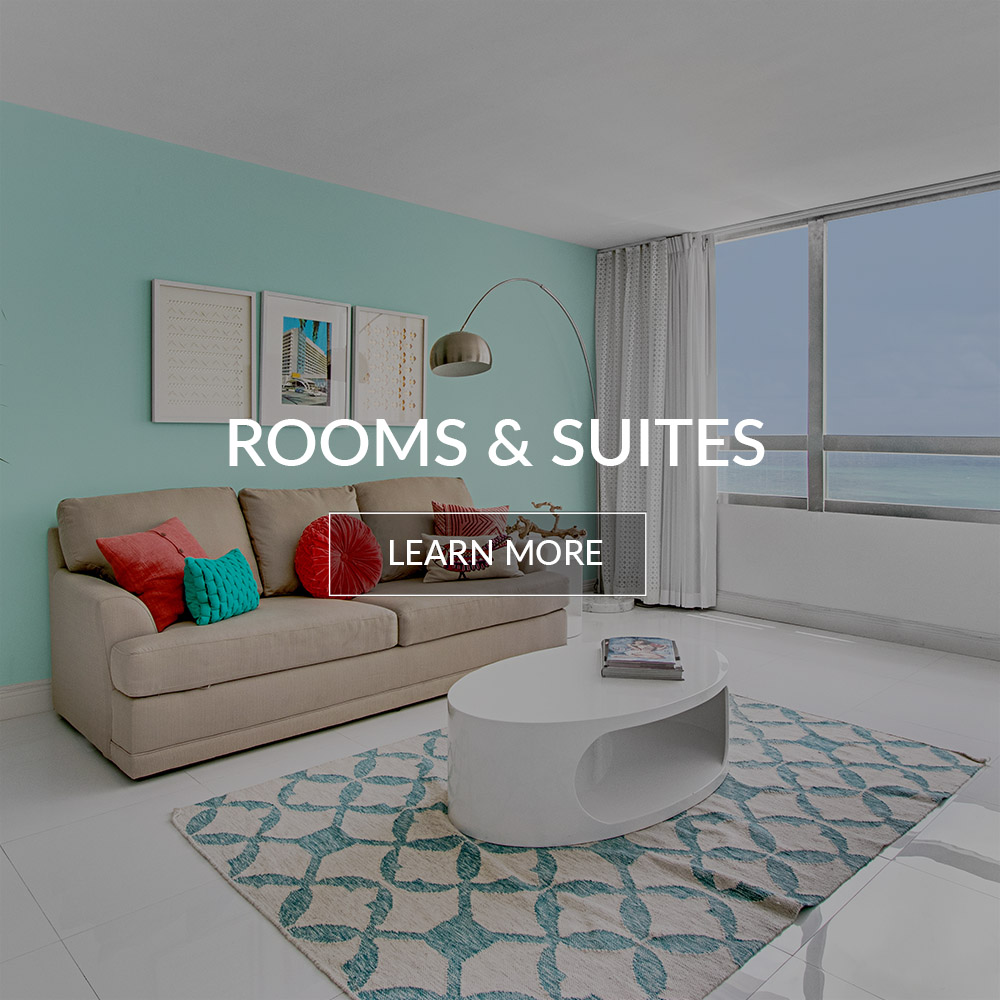 Rooms and suites of the Deauville Beach Resort