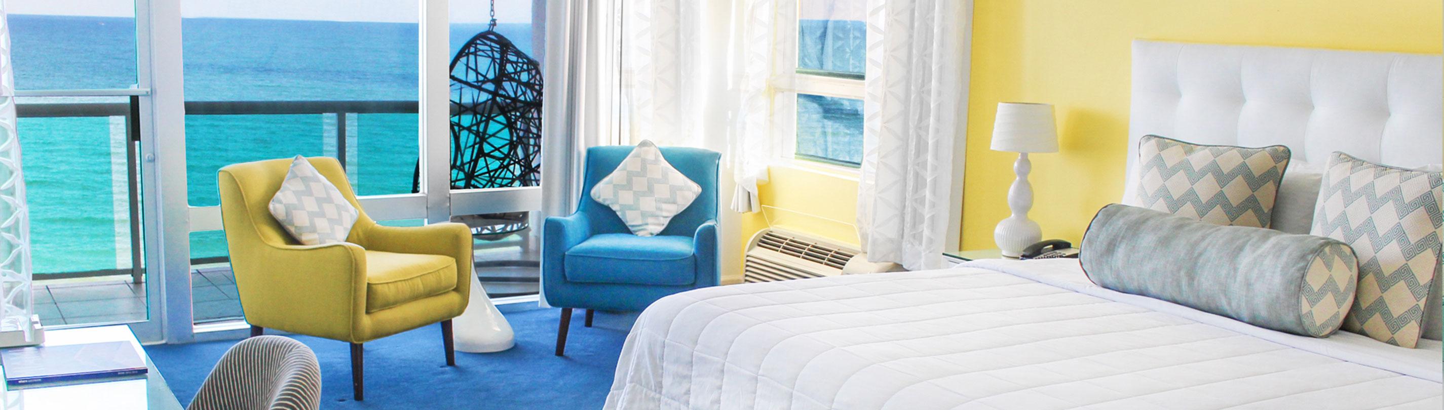 Deluxe oceanfront room deauville beach resort miami