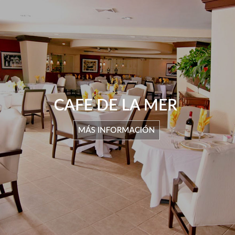restaurante cafe de la mer dentro del deauville beach resort