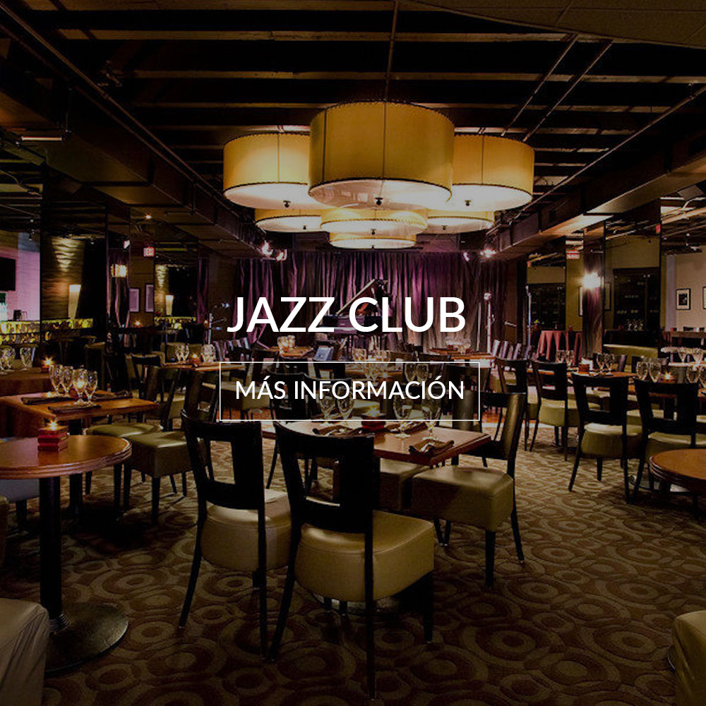 inside the jazz club at the deauville