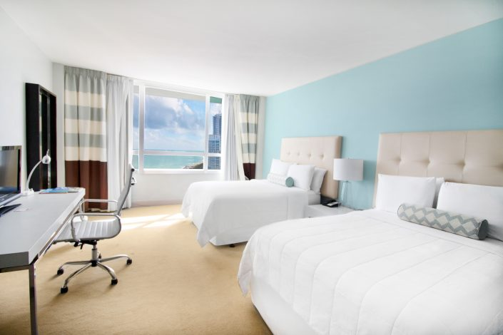 Executive Ocean View 2 Double Beds Room at the Deauville Beach Resort