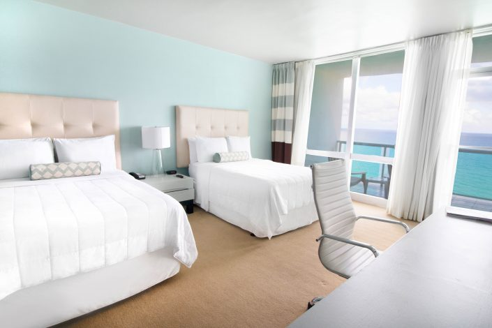 Executive Oceanfront 2 Double Beds rooms at the Deauville Beach Resort