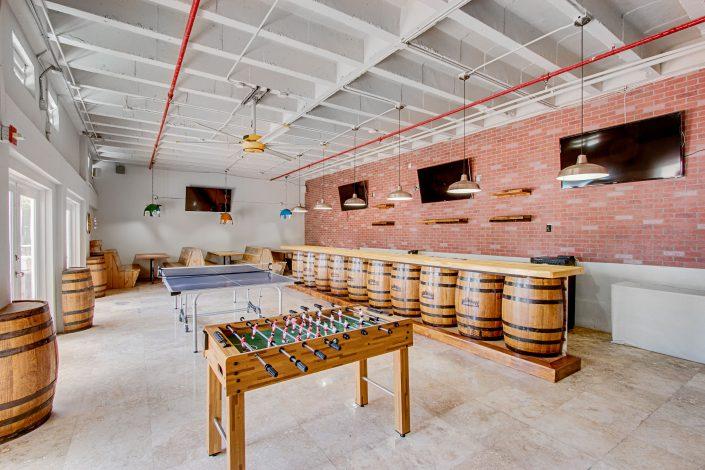 Inside D-Barrel Bar at the Deauville Beach Resort