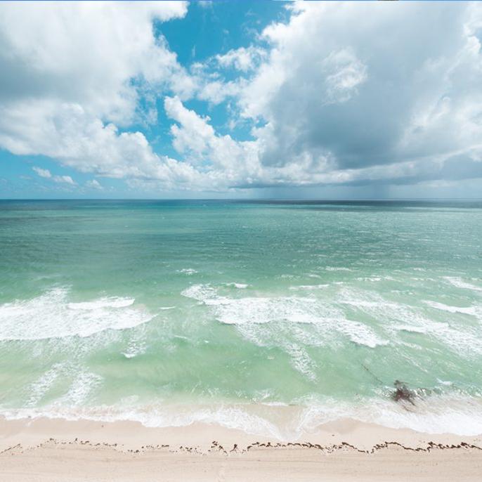 Miami beach on a sunny day