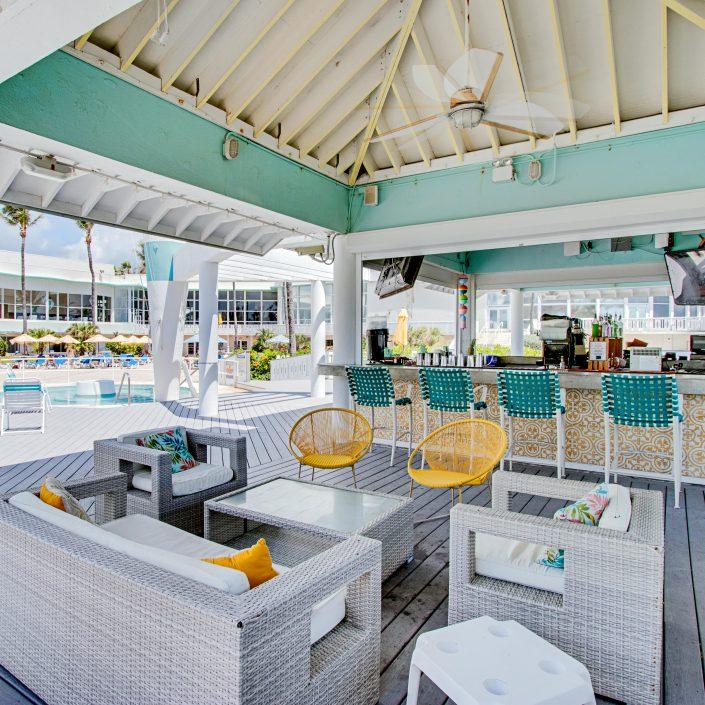 Tiki bar at the Deauville Beach Resort