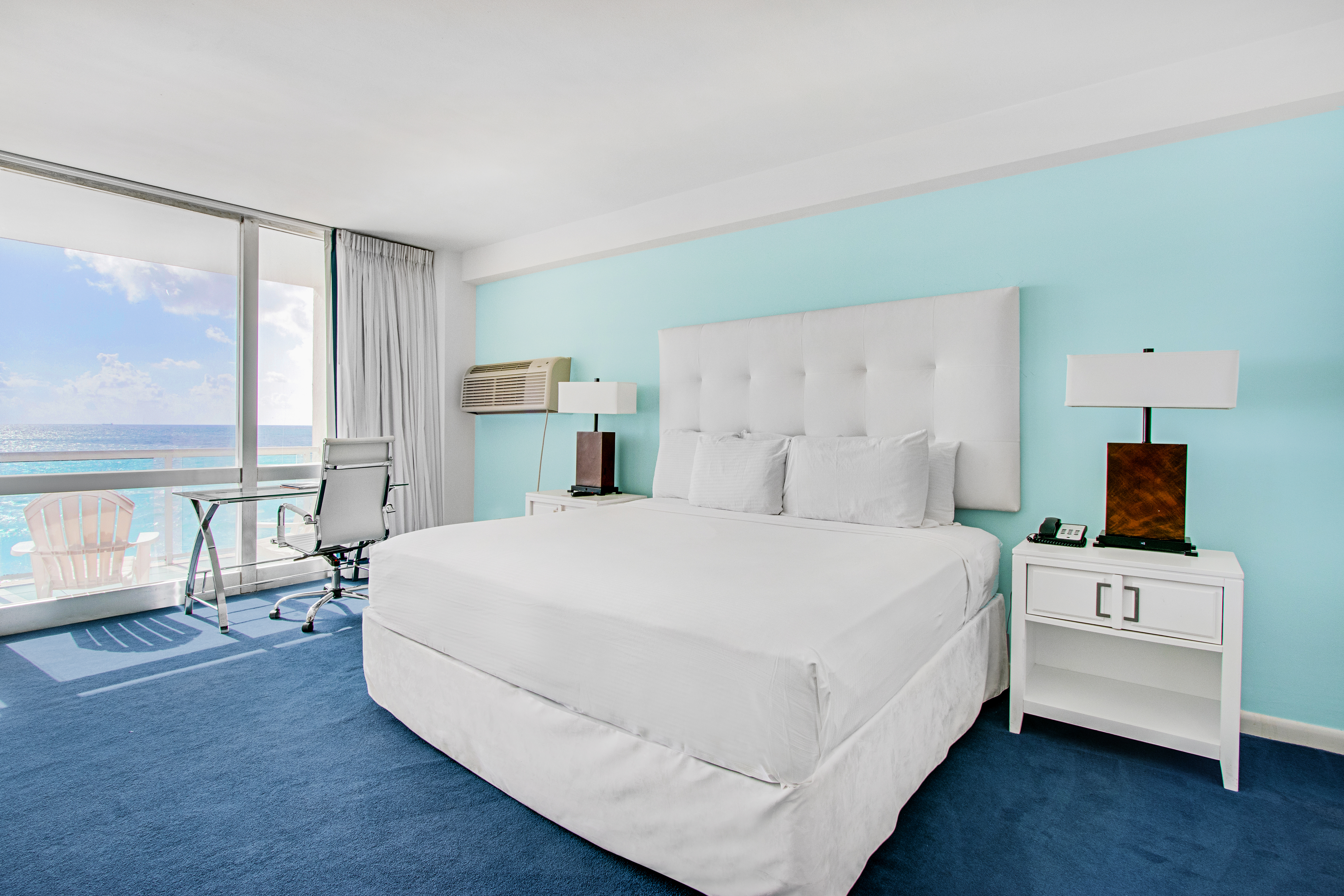 Standard Oceanfront 1 King Bed room type at the Deauville Beach Resort